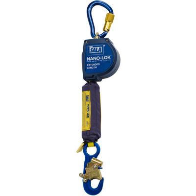 Nano-Lok™ Extended Self Retracting Lifeline, Snap Hook, Swivel Anchor Loop W/ Carabiner, 11'