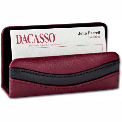 DACASSO® Two-Tone Leather Business Card Holder