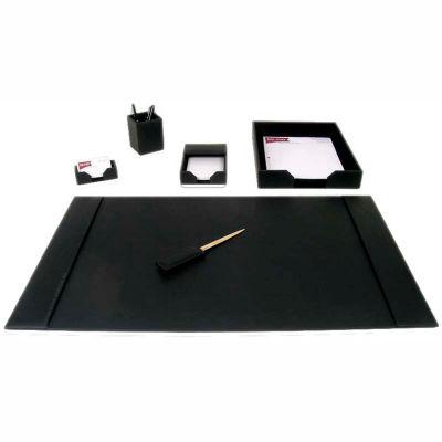 DACASSO® Black Leather 6-Piece Econo-Line Desk Set