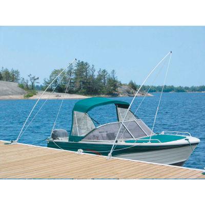 Dock Edge Mooring Whip 12' Lines & HDW, 4000Lb Capacity 1/Case - 3120-F
