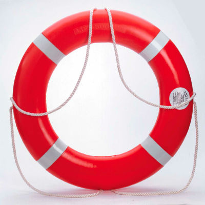 "Dock Edge Dolphin™ Life Ring Buoy S.O.L.A.S. 30"", Orange USA 1/Case - 56-203-F"