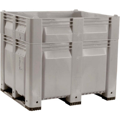 Decade C40SGY3-H46 MACX Heightened Pallet Container Solid Wall 48x40x46 Gray 1500 Lb. Capacity