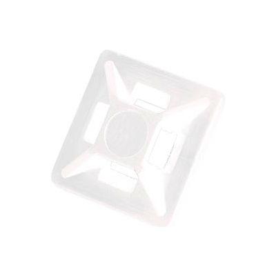 """Del City 9772 Mini 4-way Adhesive Mtg Base- 3/4"""" sq- Natural, 100 Pieces"""