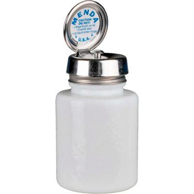 Menda 35389 Round White Glass Liquid Dispenser with Pure-Touch Pump, 4 oz.