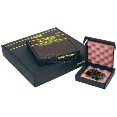 """Protektive Pak ESD Shipping & Storage Boxes w/ Foam, 19""""L x 19""""W x 3""""H, Black"""