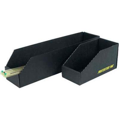 "Protektive Pak 37109 ESD Open Bin Box, 8""W x 18""D x 4-1/2""H - Pkg Qty 10"