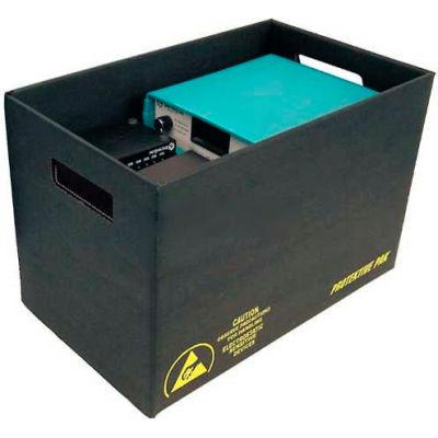 "Protektive Pak 37517 ESD Storage Container, 23-5/8""L x 13-3/8""W x 8-1/4""H - Pkg Qty 5"