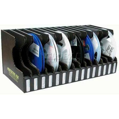 "Protektive Pak 37563 Conductive Reel Storage Container, 15 Slots, 17-1/2""L x 8-1/4""W x 7-1/4""H"
