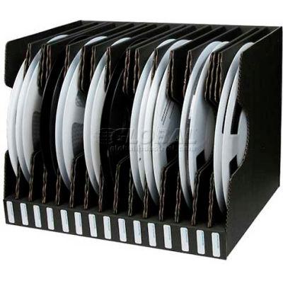 "Protektive Pak 37564 Conductive Reel Storage Container, 15 Slots, 17-1/2""L x 13-13/16""W x 13-1/4""H"