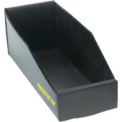 "Protektive Pak 38904 Plastek ESD Open Bin Box, 4""W x 18""D x 4""H - Pkg Qty 5"