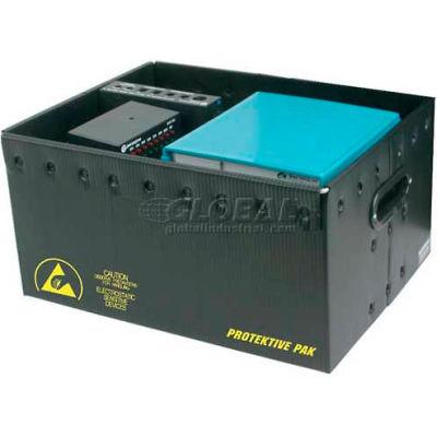 "Protektive Pak 39106 Plastek ESD Storage Container, 18""L x 14""W x 6-15/16""H - Pkg Qty 5"