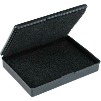 "Protektive Pak ESD Shipping & Storage Hinged Boxes w/ Foam, 3-1/2""L x 2-1/2""W x 5/8""H, Black - Pkg Qty 5"