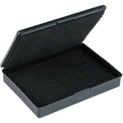 "Protektive Pak 57012 Conductive Hinged Boxes w/Foam, 9-3/16""L x 5-3/16""W x 1-3/4""H - Pkg Qty 5"