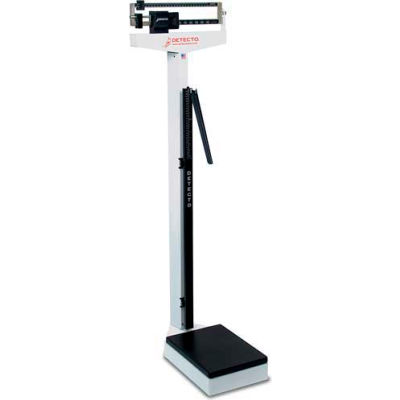 Detecto 439 Eye Level Beam Physician Scale with Height Rod, 450 lb x 4 oz