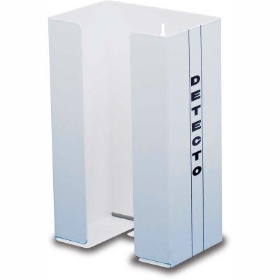 "Detecto® Single Glove Box Holder, White Powder Coated Steel, 10-1/2""H x 6-1/2""W x 4-1/4""D"