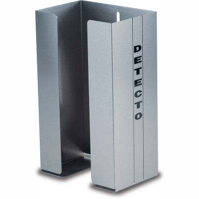 """Detecto® Single Glove Box Holder, Stainless Steel, 10-1/2""""H x 6-1/2""""W x 4-1/4""""D"""