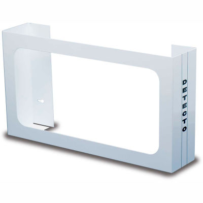 "Detecto® Triple Glove Box Holder, White Powder Coated Steel, 10""H x 18""W x 4""D"