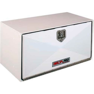 "DELTA PRO™ White Steel Underbed Box - 60"" x 18"" x 18"""
