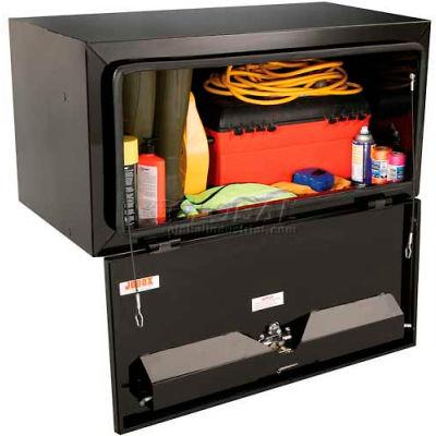 """JOBOX 24"""" Tall Black Steel Underbed Box - 60"""" x 24"""" x 24"""""""