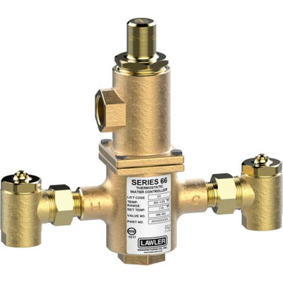 Lawler Series 66-50 Thermostatic Mixing Valve, 50 GPM