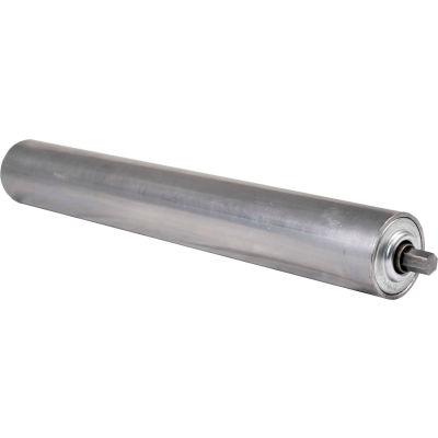 "1.9"" Dia. x 9 Ga. Steel Roller 42215-36-GP for 36"" O.A.W. Omni Conveyors, ABEC Bearings"