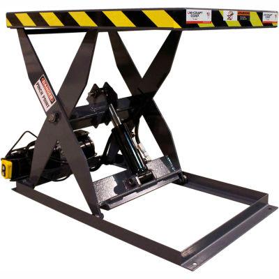 Omni Metalcraft Hydraulic Scissor Lift Table SLHL-10-35-1500-24-48-110/HP Hand Operated 1500 Lb Cap.