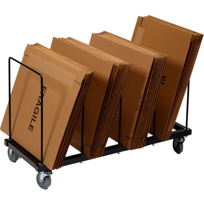 "Floor Carton Rack with Five 1/2"" Wire Dividers, 44"" x 18"" x 24"""