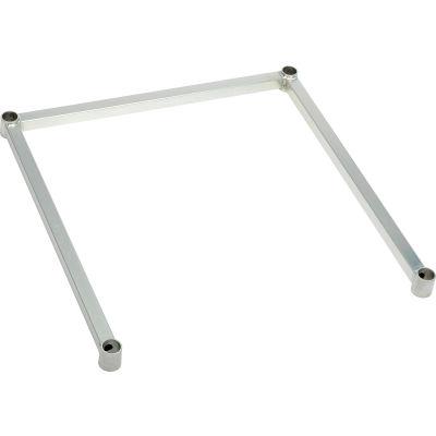 """Nexel® DF1848Z Poly-Z-Brite® Three-Sided Steel Frame 48""""W x 18""""D"""