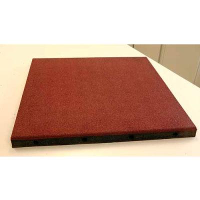 "Dinoflex Playground Tile, 2-1/4""H x 24""L x 24""W, 4 ft<sup>2</sup>, Stone Beige 4030575L2"