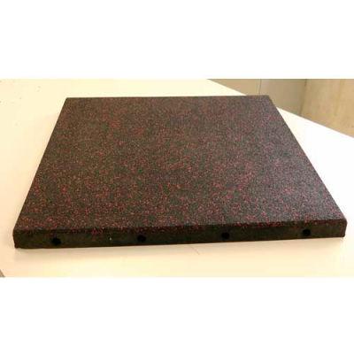 "Dinoflex Playground Tile, 1-1/2""H x 24""L x 24""W, 4 ft<sup>2</sup>, 50% Green 453040192"