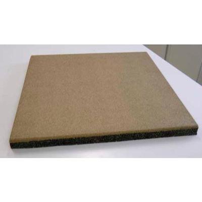 "Dinoflex Tile-Smooth, 2-1/2""H x 24""L x 24""W , 4 ft<sup>2</sup>, Teak Brown VR4030575M2"
