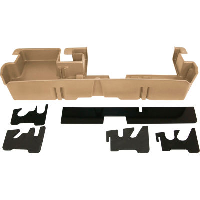 DU-HA 07-15 Toyota Tundra Double Cab - Underseat - Tan (Fits with factory subwoofer)