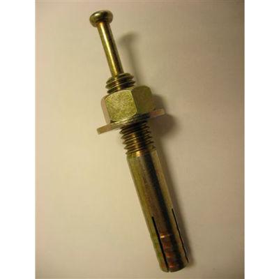 """Center Pin Drive Anchor - 3/8 x 3-1/2"""" - Steel - Yellow Zinc - USA - Pkg of 100"""