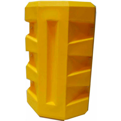 """Poly Structural Column Protector, 8-1/4"""" x 10-1/4"""" Rectangle Opening, Yellow"""