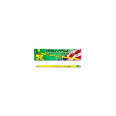 Dixon Ticonderoga Yellow Pencil, Woodcase, #4, Black Lead, 12-Pack