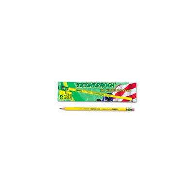 Dixon Ticonderoga Yellow Pencil, Woodcase, #2.5, Black Lead, 12-Pack