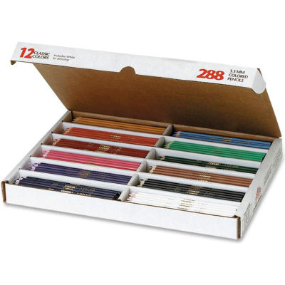 Prang Master Pack Colored Pencils, 3.3 mm Lead Size, Assorted Barrel, 288/Box