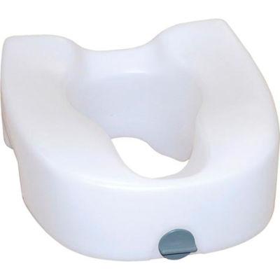 Drive Medical 12014 Premium Plastic Raised Toilet Seat with Lock, Elongated
