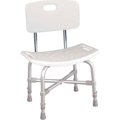 Drive Medical 12021KD-1 Bariatric Heavy Duty Bath Bench With Back, Knock Down