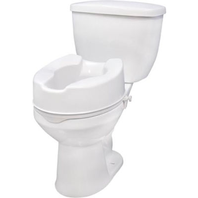 """Drive Medical 12066 Raised Toilet Seat with Lock, Standard Seat, 6"""" Height"""