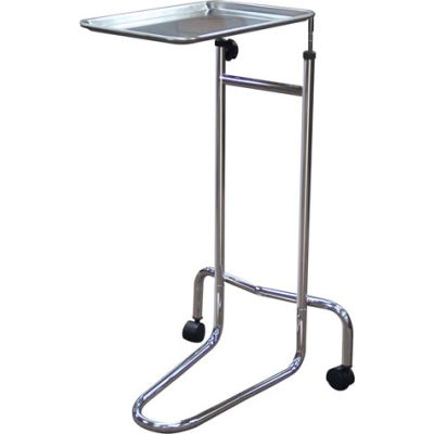 """Drive Medical 13045 Double Post Mayo Instrument Stand, Adjustable Height 32.5""""- 52"""""""