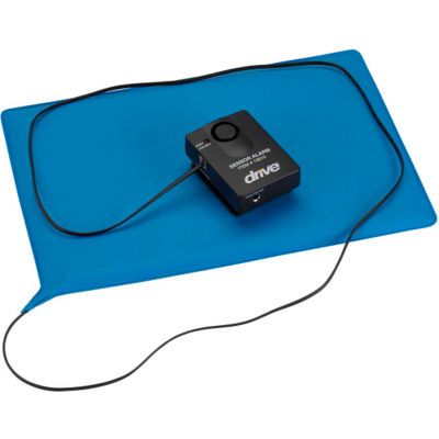 """Drive Medical 13608 Pressure Sensitive Chair Patient Alarm with Reset Button, 10"""" x 15"""" Pad"""