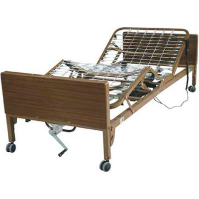 Ultra Light Full Electric Bed with Full Length Side Rails, Spring Mattress