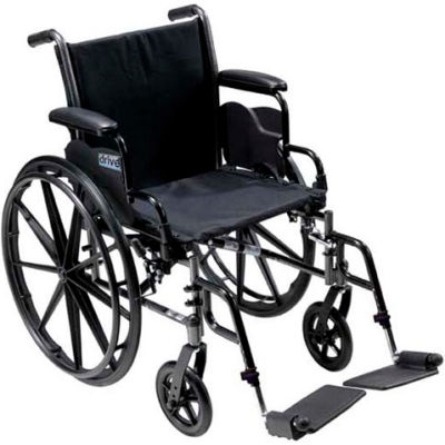"20"" Cruiser III Wheelchair, Flip Back Detachable Desk Arms, Swing-away Footrests"
