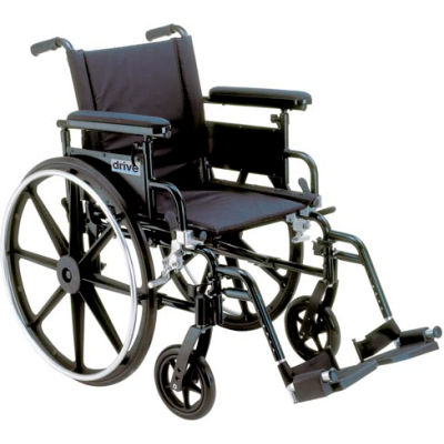 "22"" Viper Plus GT Wheelchair, Flip Back Detachable Adjustable Full Arms, Elevating Legrests"
