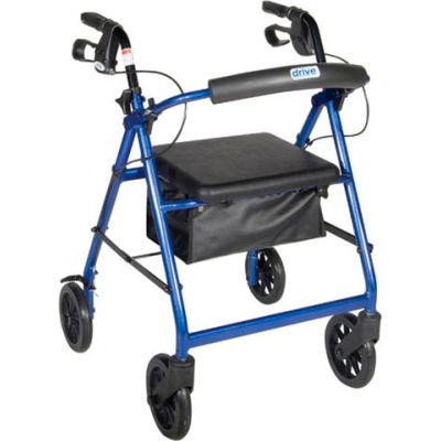 """Aluminum Rollator with 7.5"""" Casters, Blue"""