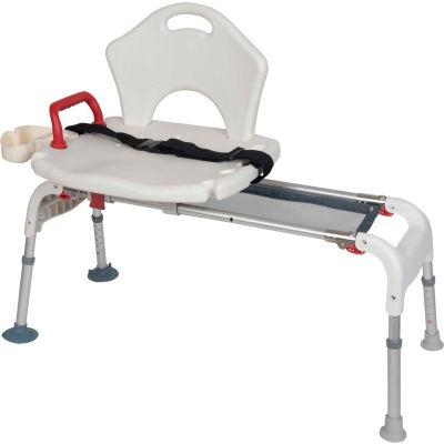 Drive Medical Folding Universal Sliding Transfer Bench RTL12075, White