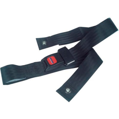 "Bariatric Wheelchair Seat Belt, Auto-Clasp Closure, Black, For Waist Sizes Up to 60"", 1 Each"