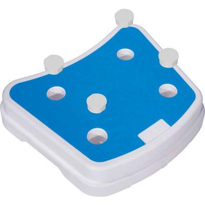 Drive Medical Portable Bath Step RTL12068, 300 Lbs. Capacity, White & Blue