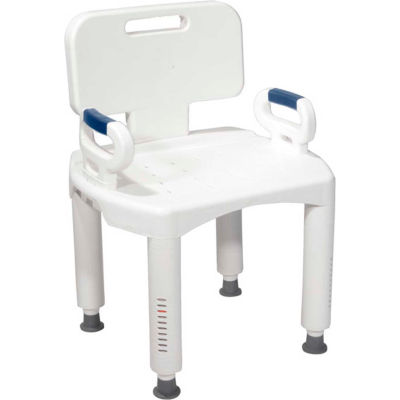 Drive Medical Bath Bench RTL12505, With Back & Arms